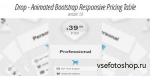 CodeCanyon - Bootstrap & Non-Bootstrap Animated Responsive Pricing Table -  ...
