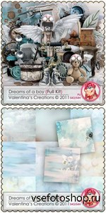 Scrap Set - Dreams of a Boy PNG and JPG Files