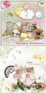 Scrap Set - Graine Damour PNG and JPG Files