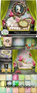 Scrap Set - Marie Antoinette PNG and JPG Files
