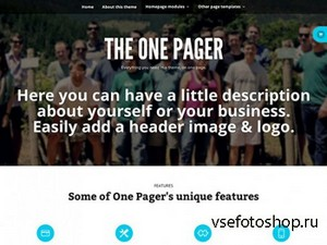 WooThemes - The One Pager v1.0.6 - Wordpress Template
