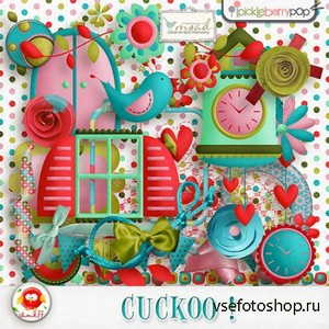 Scrap Set - Cuckoo ! PNG and JPG Files