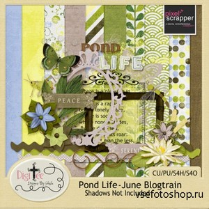 Scrap Set - Pond Life PNG and JPG Files