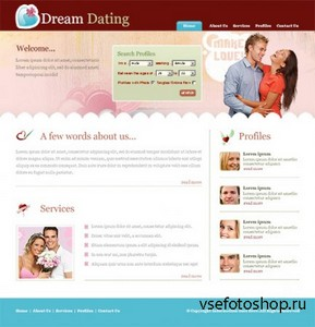 DreamTemplate - Dream Dating CSS Template - 6592