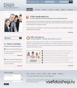 DreamTemplate - Dream Project Web Template - 6393