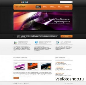 DreamTemplate - ModulTheme 3D - Webpage Template