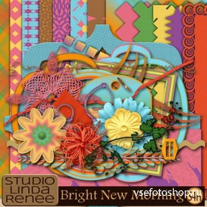 Scrap Set - Bright New Morning PNG and JPG Files