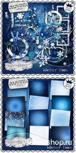 Scrap Set - WInter Time PNG and JPG Files