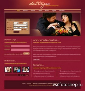 DreamTemplate - Dating Eve CSS Template - 6602