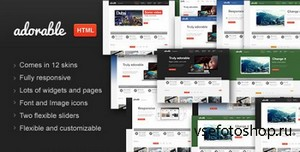 ThemeForest - Adorable - Business Services Portfolio HTML theme - RIP
