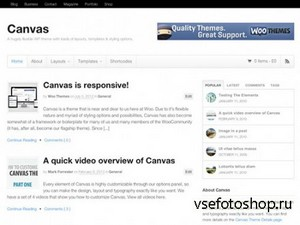 WooThemes - Canvas v5.2.7 - Wordpress Template