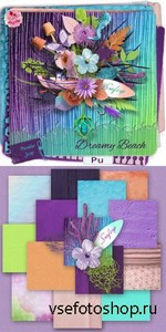 Scrap Set - Dreamy Beach PNG and JPG Files