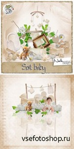 Scrap Set - Soft Baby PNG and JPG Files
