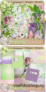 Scrap Set - Pastel Bloom PNG and JPG Files