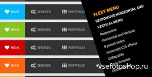 CodeCanyon - Flexy Menu - Responsive Horizontal & Vertical Menu - RIP
