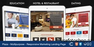 ThemeForest - Plaza - Education - Hotel - Dating Landing - RIP