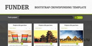 ThemeForest - FUNDER - Bootstrap Crowdfunding Site (Single Page) - RIP