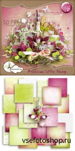 Scrap Set - Precious Little Thing PNG and JPG Files
