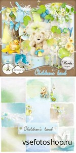 Scrap Set - Childrens Land PNG and JPG Files