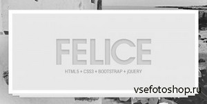 ThemeForest - Felice - OnePage - Multipage - Bootstrap Template - RIP
