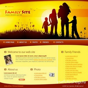 DreamTemplate - Flash - Social & Holidays - 4045 - Family Site