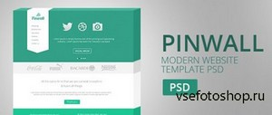PSD Web Template - Pinwall - Modern Website