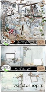 Scrap Set - By The Sea PNG and JPG Files