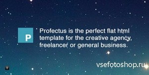 ThemeForest - Profectus - Responsive Flat HTML Template - RIP