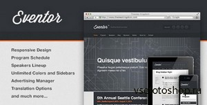 ThemeForest - Eventor v1.9.1 - Event Management WordPress Theme