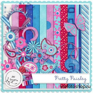 Scrap Set - Pretty Paisley PNG and JPG Files