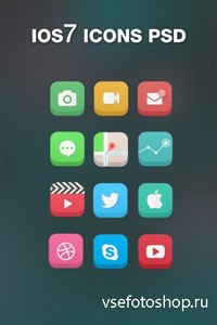 PSD Icons - iOS7