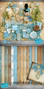 Scrap Set - Winter Bliss PNG and JPG Files