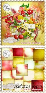 Scrap Set - Colorful Season PNG and JPG Files