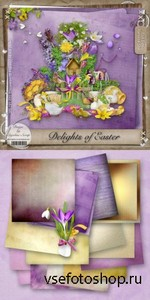 Scrap Set - Delights of Easter PNG and JPG Files