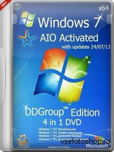 Windows 7 SP1 4in1 DVD v.24.07 DDGroup™ Edition AIO Activated (x64/2013/RUS ...