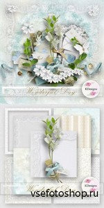 Scrap Set - Wonderful Day PNG and JPG Files