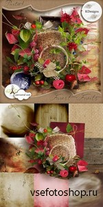 Scrap Set - Forest Fruits Partie 1 PNG and JPG Files