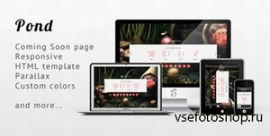 ThemeForest - Pond - Responsive Minimalist Coming Soon Template - RIP