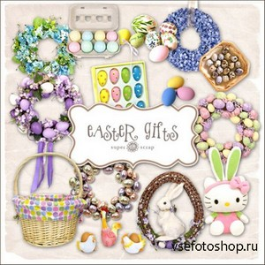 Scrap Set - Easter Gifts PNG Files