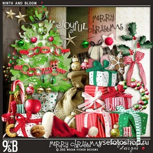 Scrap Set - Merry Christmas PNG and JPG Files