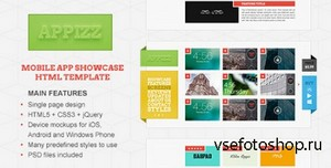 ThemeForest - Appizz - Mobile App Showcase HTML Template - RIP