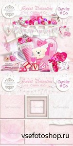 Scrap Set - Sweet Valentine PNG and JPG Files