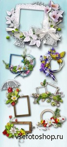 Original Floral Frame PNG Files