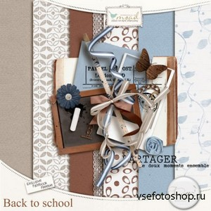 Scrap Kit - Back to School PNG and JPG Files