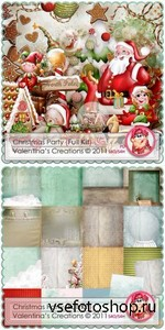 Scrap Set - Christmas Party PNG and JPG Files