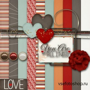 Scrap Set - You Are All I Need PNG and JPG Files