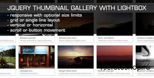 CodeCanyon - JQuery Thumbnail Gallery With LightBox v1.2