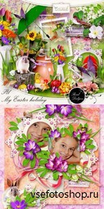 Scrap Set - My Easter Holiday PNG and JPG FIles