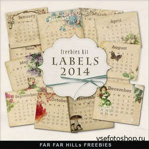 Scrap-kit - Calendar Labels 2014 - 1