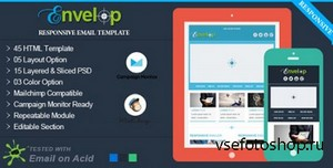 ThemeForest - Envelop - Responsive Email Template - RIP